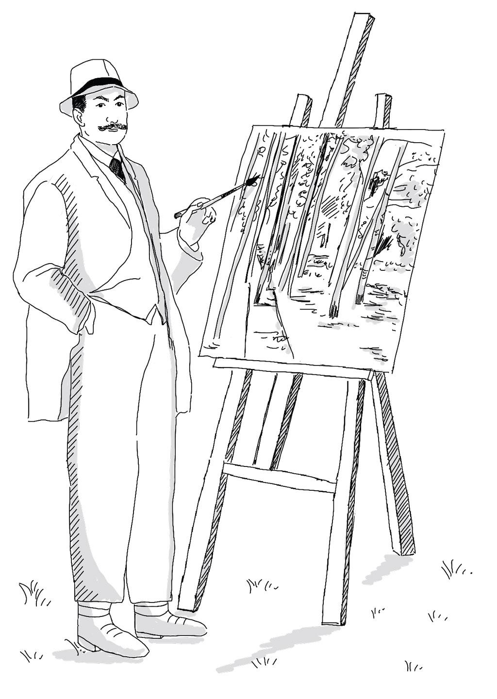 Max Liebermann Staffelei